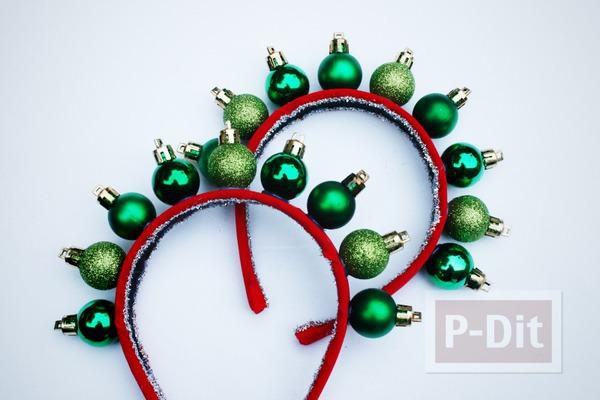 รูป 6 ที่คาดผมสวยๆ สีแดง-เขียว วันคริสต์มาส