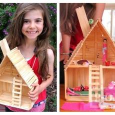 บ้านตุ๊กตา ทำจากไม้ไอติม