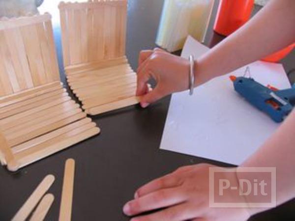 รูป 3 บ้านตุ๊กตา ทำจากไม้ไอติม