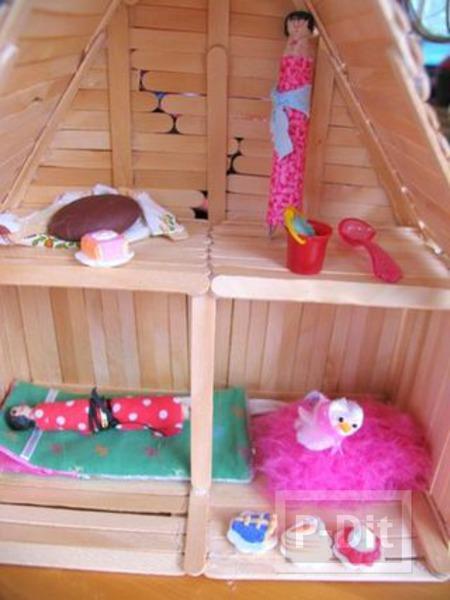 รูป 6 บ้านตุ๊กตา ทำจากไม้ไอติม