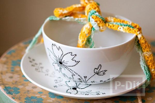 รูป 1 ตกแต่งลวดลาย แก้วกาแฟ สวยๆ