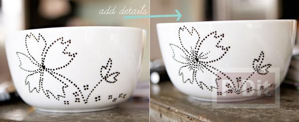 รูป 3 ตกแต่งลวดลาย แก้วกาแฟ สวยๆ