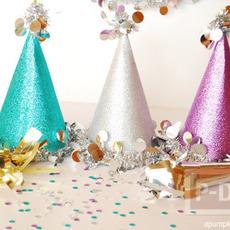 ประดิษฐ์หมวกงานปาร์ตี้ วันคริสต์มาส ปีใหม่