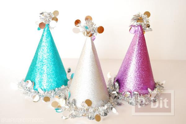 รูป 7 ประดิษฐ์หมวกงานปาร์ตี้ วันคริสต์มาส ปีใหม่