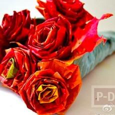 ประดิษฐ์ดอกไม้สวยๆ จากใบเมเปิล