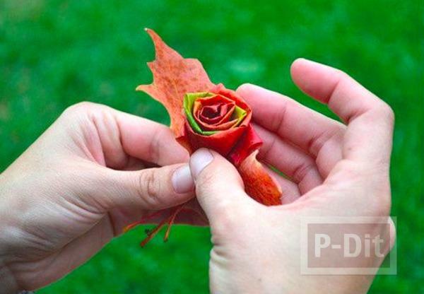 รูป 7 ประดิษฐ์ดอกไม้สวยๆ จากใบเมเปิล