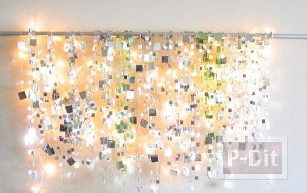 รูป 2 โมบายกระจก พลาสติก ประดับบ้าน