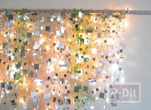 รูป 3 โมบายกระจก พลาสติก ประดับบ้าน