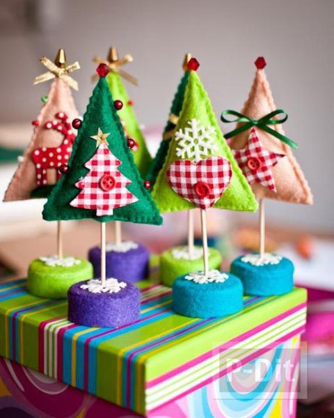 ต้นคริสต์มาสสวยๆ ทำจากผ้ากำมะหยี่
