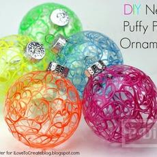 เปลี่ยนลูกบอลใส ให้มีสีสัน ประดับต้นคริสต์มาส