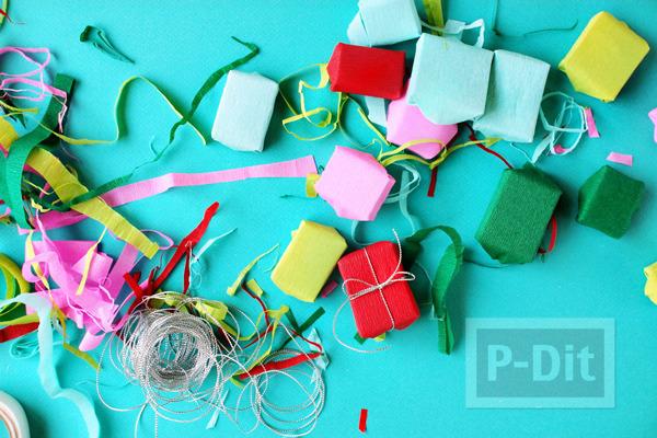 รูป 3 กล่องของขวัญ กล่องเล็กๆ ประดับต้นคริสต์มาส