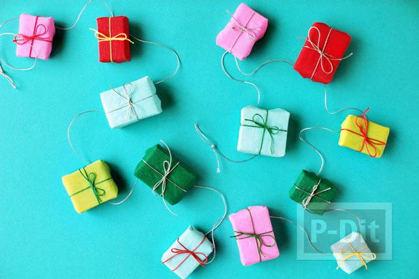 รูป 6 กล่องของขวัญ กล่องเล็กๆ ประดับต้นคริสต์มาส