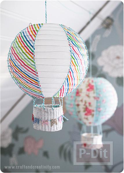 รูป 2 ประดิษฐ์บอลลูน ประดับหลอดไฟ เพดาน
