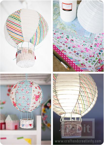 รูป 6 ประดิษฐ์บอลลูน ประดับหลอดไฟ เพดาน