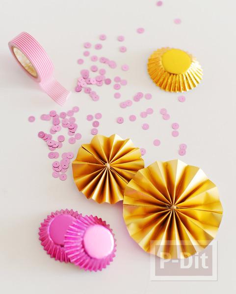 รูป 6 ถ้วยขนมคัพเค้ก นำมาตกแต่ง โมบาย กล่องของขวัญ