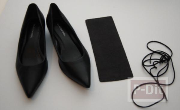รูป 2 รองเท้าคัชชูสีดำ ตกแต่งประดับโบว์น่ารัก