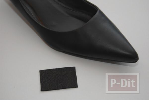 รูป 3 รองเท้าคัชชูสีดำ ตกแต่งประดับโบว์น่ารัก