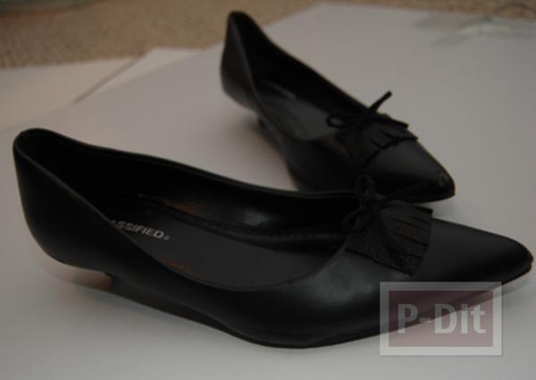 รูป 7 รองเท้าคัชชูสีดำ ตกแต่งประดับโบว์น่ารัก