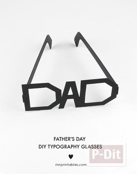 รูป 2 ของขวัญวันพ่อ แว่นตากระดาษ ทำเอง
