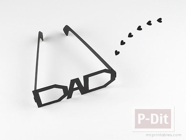 รูป 3 ของขวัญวันพ่อ แว่นตากระดาษ ทำเอง