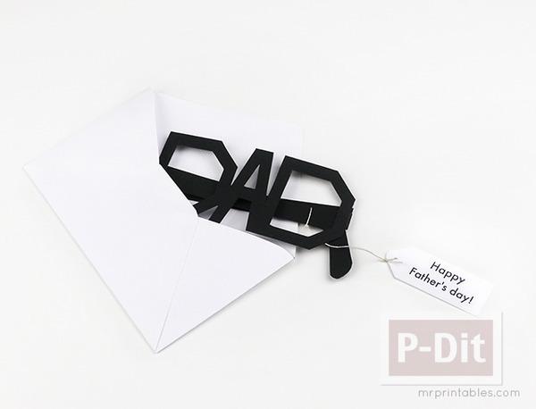 รูป 5 ของขวัญวันพ่อ แว่นตากระดาษ ทำเอง
