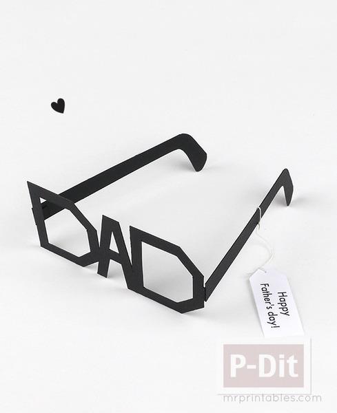 รูป 6 ของขวัญวันพ่อ แว่นตากระดาษ ทำเอง