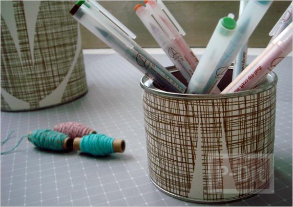 รูป 2 กล่องใส่ดินสอ ทำเอง จากกระดาษ กระป๋องเก่าเก็บ