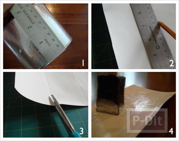รูป 4 กล่องใส่ดินสอ ทำเอง จากกระดาษ กระป๋องเก่าเก็บ