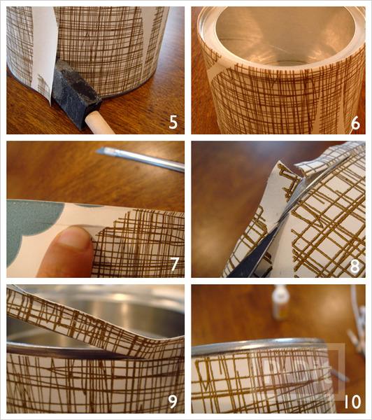 รูป 5 กล่องใส่ดินสอ ทำเอง จากกระดาษ กระป๋องเก่าเก็บ