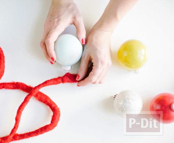 รูป 3 พวงลูกบอล ทำสวยๆ ประดับบ้าน
