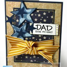 การ์ดวันพ่อ ทำเอง จากกระดาษการ์ดสวยๆ