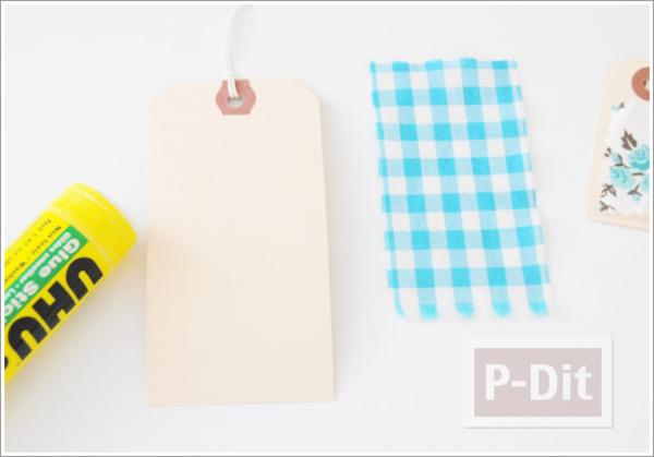 รูป 5 ตกแต่งการ์ดเล็กๆ ด้วยเศษผ้า สีสดใส