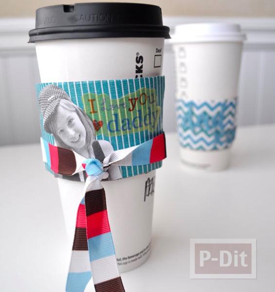 รูป 1 ของขวัญวันพ่อ ทำการ์ด ประดับแก้วกาแฟ
