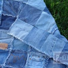 ไอเดียทำผ้าปูนั่งเล่นนอกบ้าน จากกางเกงยีนส์