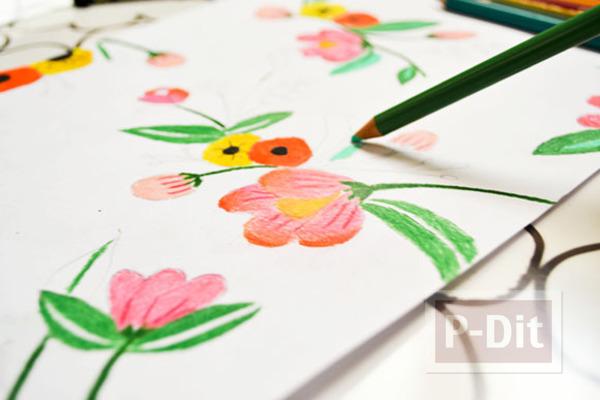 ตกแต่งผนังบ้าน ด้วยภาพวาด ระบายสี จากสีไม้