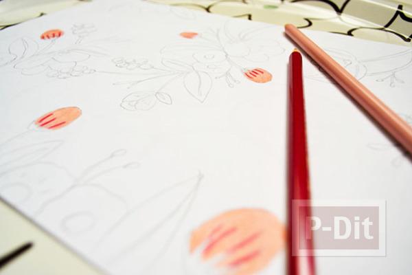 รูป 3 ตกแต่งผนังบ้าน ด้วยภาพวาด ระบายสี จากสีไม้