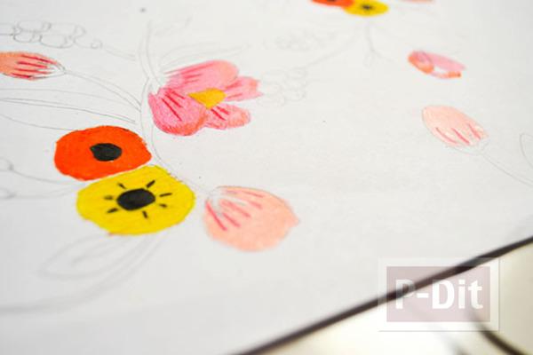 รูป 5 ตกแต่งผนังบ้าน ด้วยภาพวาด ระบายสี จากสีไม้