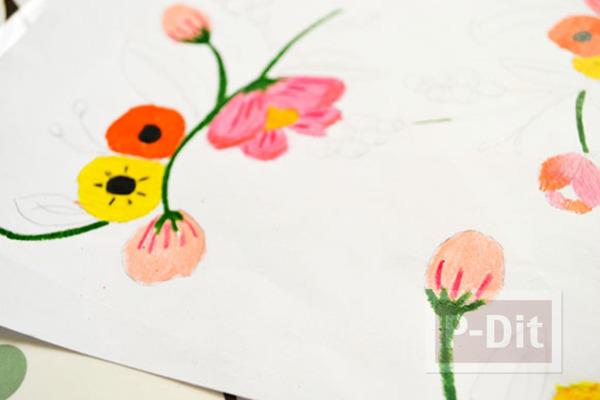 รูป 6 ตกแต่งผนังบ้าน ด้วยภาพวาด ระบายสี จากสีไม้