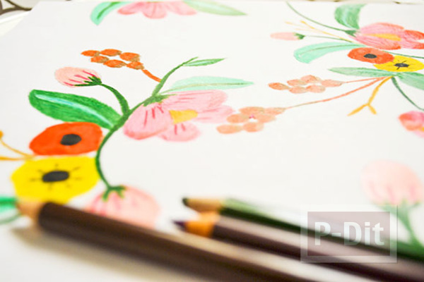 รูป 7 ตกแต่งผนังบ้าน ด้วยภาพวาด ระบายสี จากสีไม้
