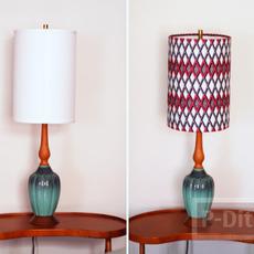 โคมไฟตกแต่งลายสวย จากผ้าสีสวย