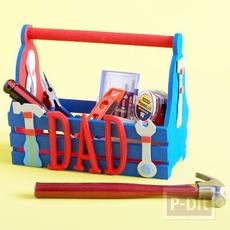 ของขวัญวันพ่อ กล่องเครื่องมือช่าง ตกแต่งสีสด