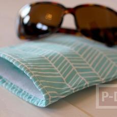 กระเป๋าใส่แว่นตา เย็บเองจากเศษผ้า