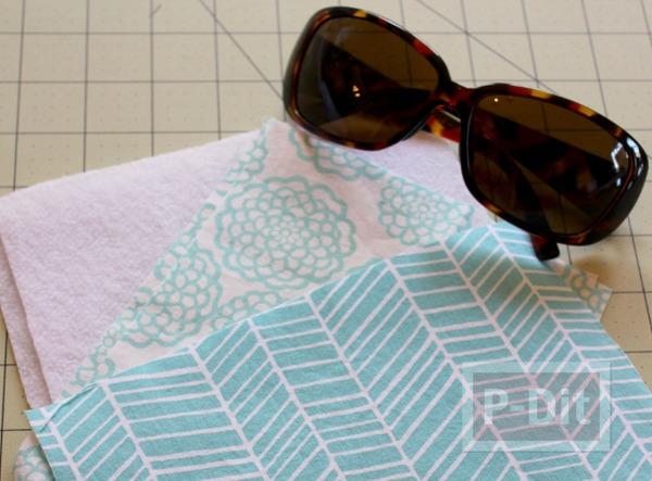 รูป 3 กระเป๋าใส่แว่นตา เย็บเองจากเศษผ้า
