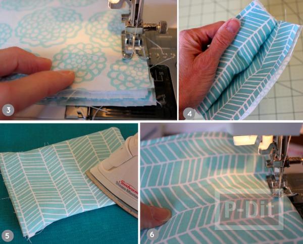 รูป 5 กระเป๋าใส่แว่นตา เย็บเองจากเศษผ้า