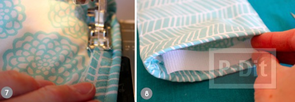 รูป 6 กระเป๋าใส่แว่นตา เย็บเองจากเศษผ้า