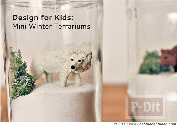 รูป 5 สัตว์ป่า ในขวดแก้ว ตกแต่งแบบง่ายๆ