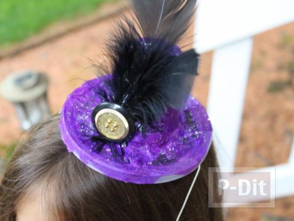 หมวกใบสวย ทำจากแก้วไอติมและฝากระป๋อง