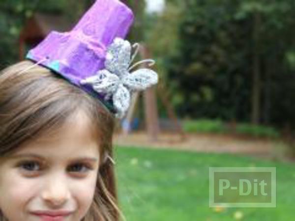 รูป 4 หมวกใบสวย ทำจากแก้วไอติมและฝากระป๋อง