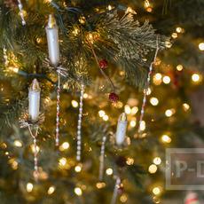 เส้นลวดแบนๆ ดัดเกลียว ประดับต้นคริสต์มาส