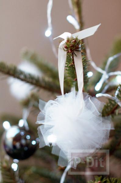 รูป 5 ลูกบอลผ้า ประดิษฐ์ตกแต่งต้นคริสต์มาส